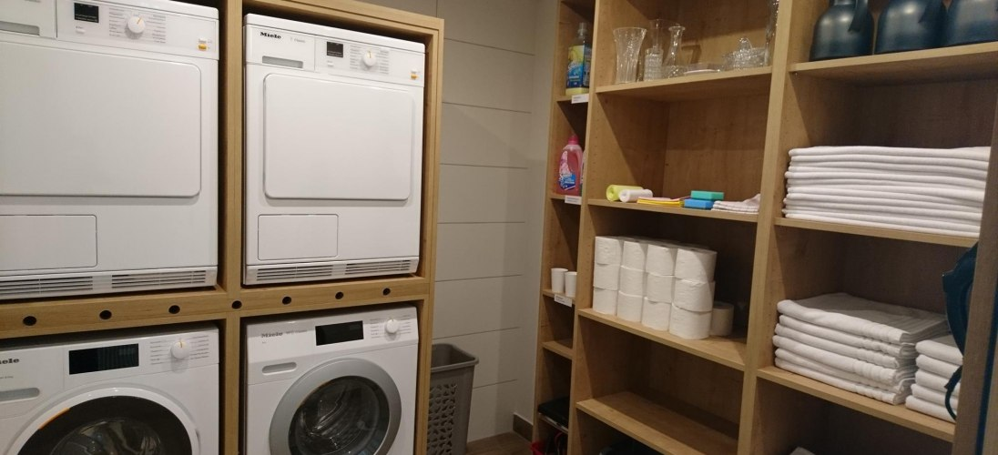 Self service washing room for guests