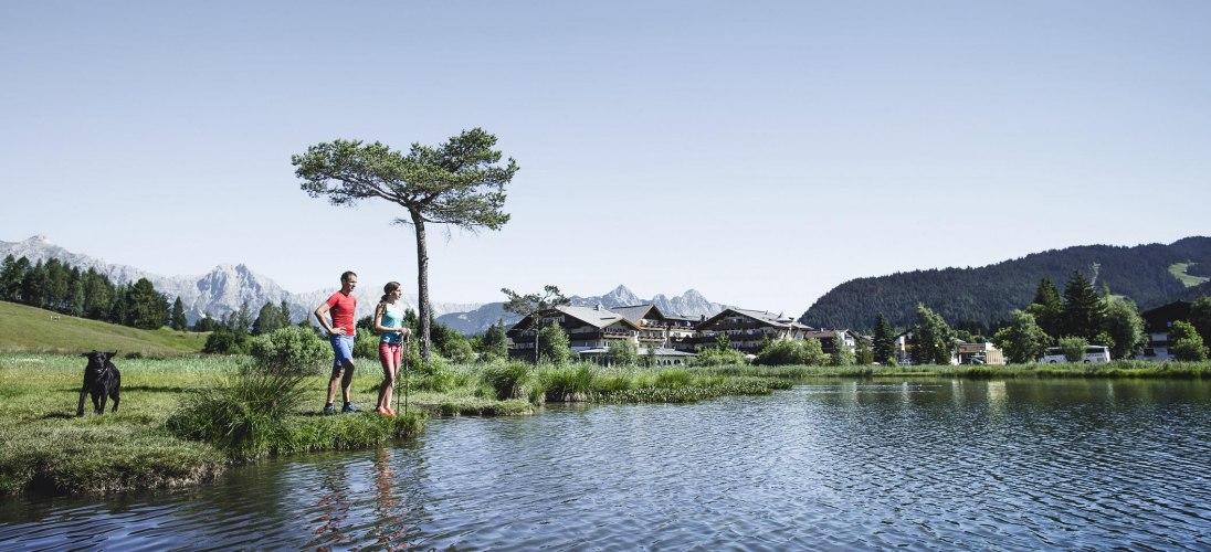 Nordic Walking am Wildsee in Seefeld, © Olympiaregion Seefeld
